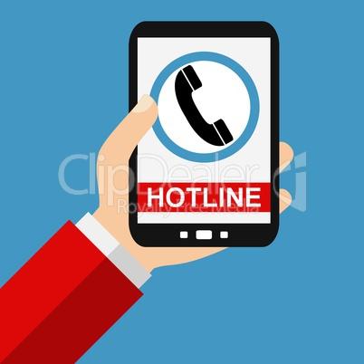Hotline auf dem Smartphone