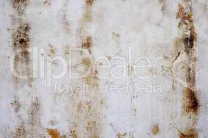 Schmutzige Oberfläche mit Kratzern und Flecken weiß