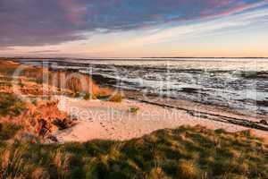 Küste am Wattenmeer auf der Insel Amrum