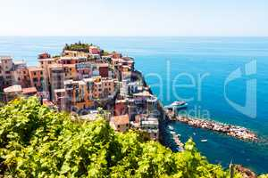 Scenic view of Cinque Terre in Italy