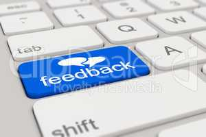 3d - keyboard - feedback - blue