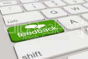 3d - keyboard - feedback - green
