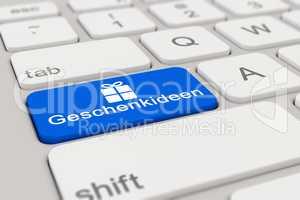 3d - keyboard - Geschenkideen - blue