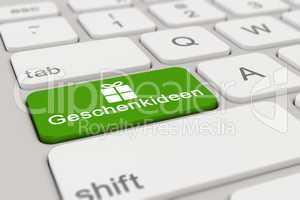 3d - keyboard - Geschenkideen - green