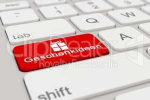 3d - keyboard - Geschenkideen - red