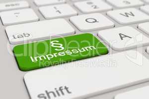 3d - keyboard - Impressum - green