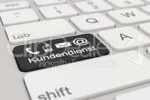 3d - keyboard - Kundendienst - black