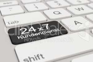 3d - keyboard - Kundendienst - 24 x 7 - black