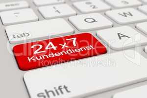 3d - keyboard - Kundendienst - 24 x 7 - red