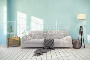 3d rendering - interior of scandinavian living room