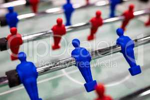 Close up of foosball Table Soccer Game