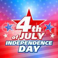 American 4th of July, illustration background