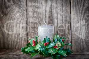 Christmas symbols including Candle