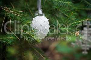 Christmas Ornaments ball on a Christmas Tree