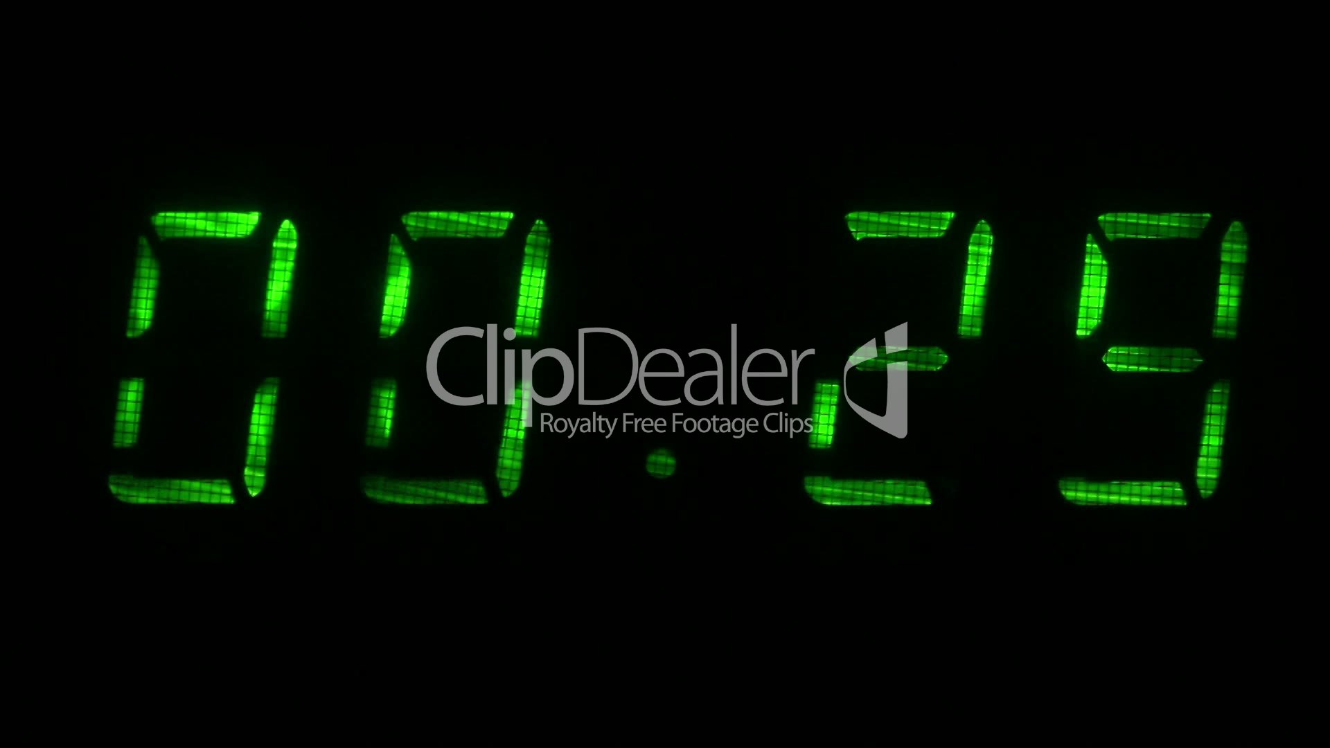digital countdown timer with an interval 30 seconds 00 30 00 00