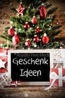 Christmas Tree With Bokeh Effect, Geschenk Ideen Means Gift Ideas