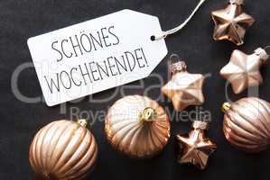 Bronze Christmas Tree Balls, Schoenes Wochenende Means Happy Wee