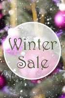 Vertical Rose Quartz Balls, Text Winter Sale