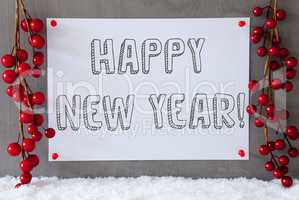 Label, Snow, Christmas Decoration, Text Happy New Year