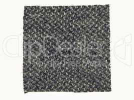Vintage looking Black fabric sample