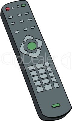 Remote control television, color illustration