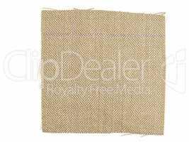 Vintage looking Brown fabric sample