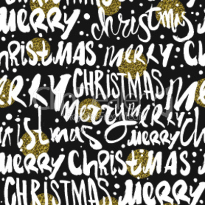 Seamless Merry Christmas pattern