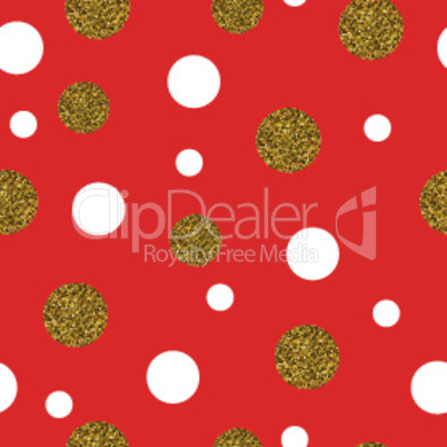 Festive Seamless Pattern Gold