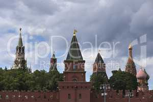 Russia, Moscow, view on Kremlin towers