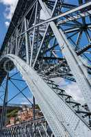 Dom Luise I bridge at the Douro River, 23. may 2014 city Porto o