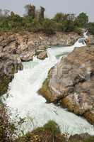 Li Phi Wasserfälle, Don Khone Island, Laos, Asien