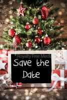 Christmas Tree With Text Save The Date