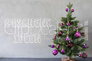 Christmas Tree, Cement Wall, Geschenk Ideen Means Gift Ideas
