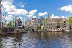 Canals of Amsterdam, capital city of the Netherlands