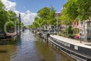 Canals of Amsterdam capital city of the Netherlands