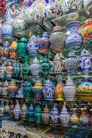 colorful vases in Grand Bazaar