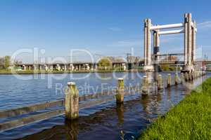 Rail lifting bridge Netherlands