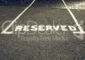 Vintage looking Reserved parking sign