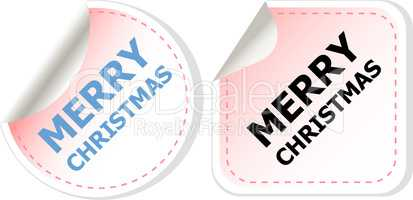 Merry christmas web icon. creative concept vector background for Web and Mobile Applications, Happy New Year. Holiday infographic, page, banner.