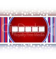 film strip icon glossy button