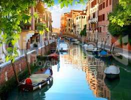 Venetian water canal
