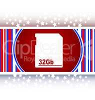 flash memory card web button icon