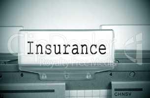 Insurance Register Folder Index