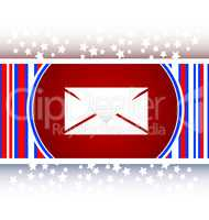 envelope icon glass, button