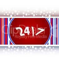 24 hour button web icon
