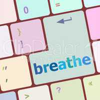 breathe word on keyboard key