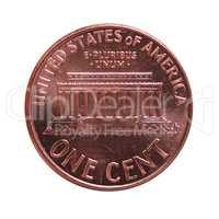 Dollar (USD) coin, currency of United States (USA) isolated over
