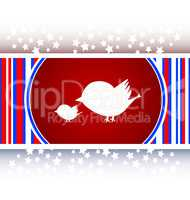 Glossy website and internet web icon with bird family sign