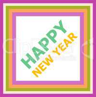 Happy New Year greeting card holidays lettering, Merry Christmas design
