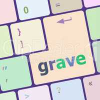 grave button on computer pc keyboard key